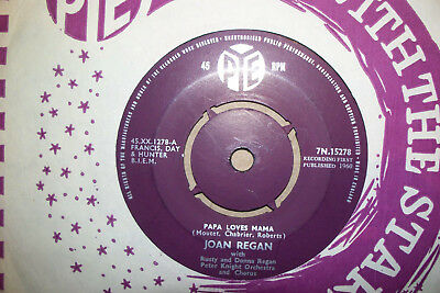 Joan Regan,  Papa Loves Mama,  Pye Records 1960  Ex+