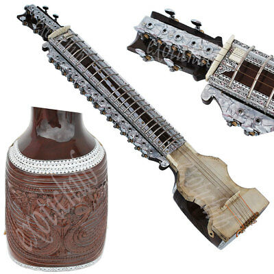 Dilruba Concert Quality~Esraj~Dilroba~Dilruba~Hand Made Indian~Real Item Images