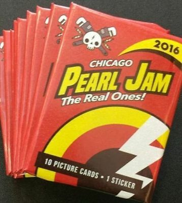 PEARL JAM Let's Play Two! Unopened '16 PJ Chicago Wrigley Field Baseball Cards