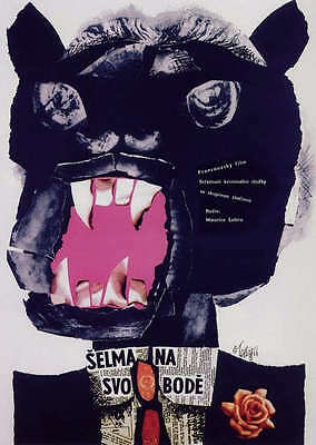 THE TIGER ATTACKS 1966 22x32 in Amazing Original Czech Poster MAURICE LABRO