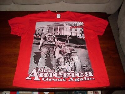 Donald Trump: Mission Accomplished: Motorcycle Theme T-Shirt: 100% cotton
