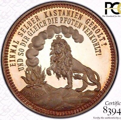 Finest & Only @ Ngc & Pcgs Sp66 1896 South Africa Hern-202 German Satire Medal