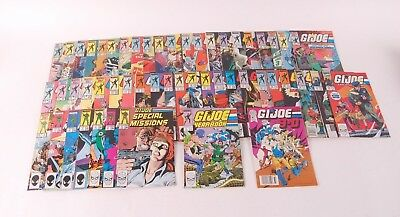 1980s GI Joe Marvel Comic Book Lot of 52 - Special Missions Yearbook 3D