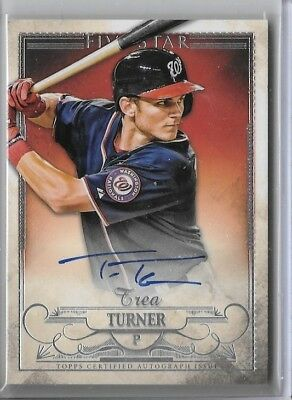 2016 Topps Five Star Auto On Card Trea Turner Nationals