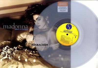 Madonna - Uk Only Clear Vinyl Limited Edition - Like A Virgin 2017 Lp Sealed