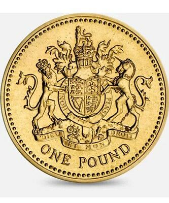 2008 £1 COIN Royal Arms VERY RARE ONE POUNDS 3rd RAREST Circulated Condition