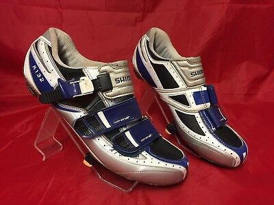 Men's Shimano R132 SPD SL Cycling Shoes Blue Size Uk 8 Eur 42