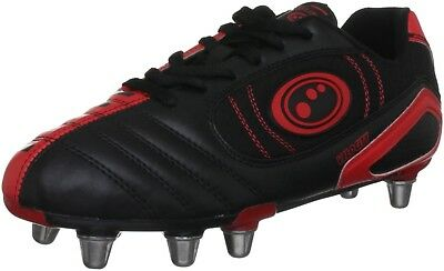 (7 UK, Black / Red) - Optimum Men's Velocity Rugby Boot. Delivery is Free