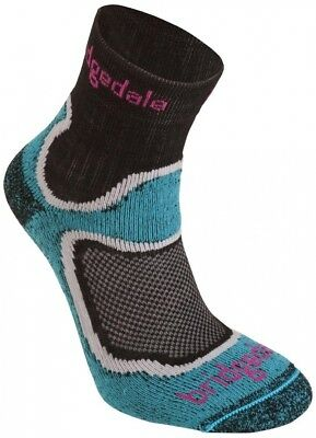 (Size 5-6.5, Turquoise) - Bridgedale Women's Cool Fusion Run Speed Trail Socks