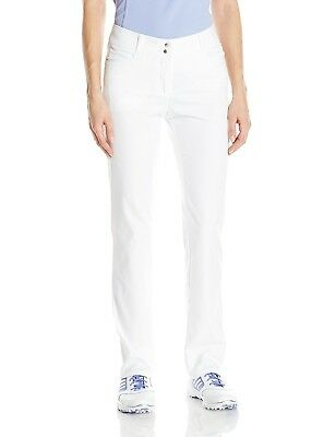 (Size 8, White) - adidas Golf Women's Essentials Full Length Pants