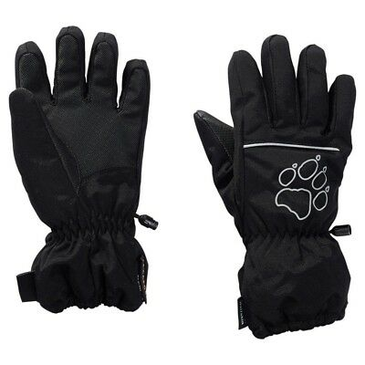 (152 (EU), Black - black) - Jack Wolfskin Texapore Glove Children's Gloves