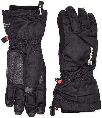 (X-Small, Black / Black) - Berghaus Unisex Arisdale AQ Gloves. Free Delivery