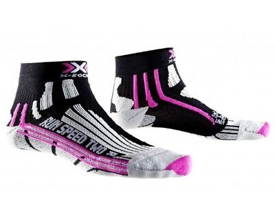 (1, Black - Black/Fuchsia) - X-SOCKS Run Speed Two Ladies Socks