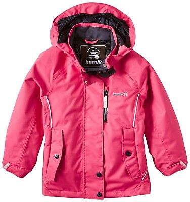 (5 years, Red - raspberry) - Kamik Girls Rain Jacket. Delivery is Free