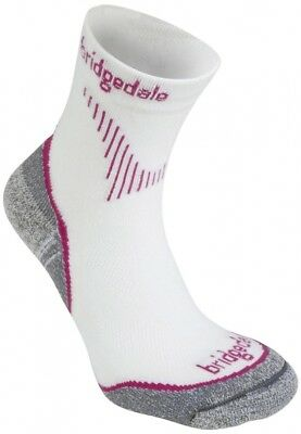 (Size 3-4.5, Dusky Pink) - Bridgedale Women's Cool Fusion Run Qwik Socks