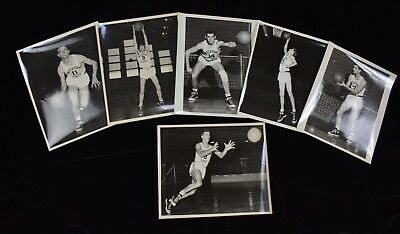 1946-49 Michigan State College Basketball Vintage Photo Set (6)