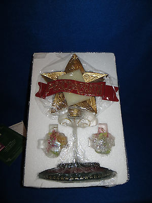 """peace On Earth"" Pocket Dragons Tree Topper / Table Centerpiece #013922 - Nib"