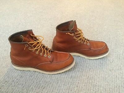Red Wing Mens Boots 8131 6-Inch Moc Toe Heritage Work BNWOB Size 10 / 44.5