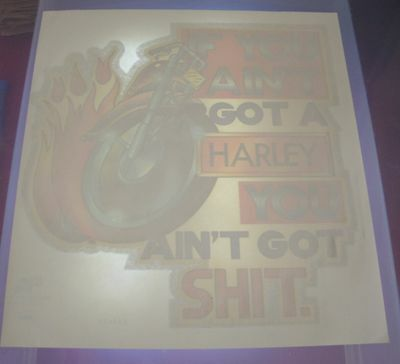 Vintage If You Aint A Harley You Aint Sh*t T-Shirt Iron On Transfer