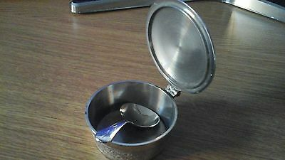 Silver Plated Mustard Pot ? with Lid and Spoon
