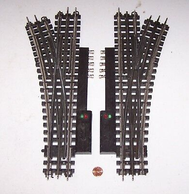 O Gauge K-Line Snap-Track One Pair of Switches (L&R) w/Controllers Lot R17-42