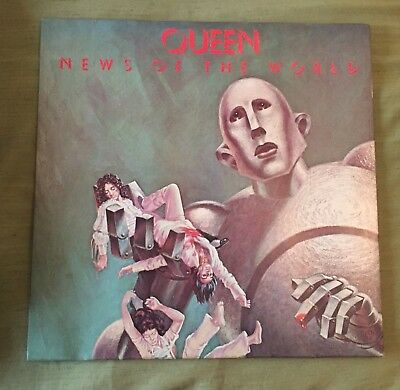 Queen – News Of The World - MONSTER HARD ROCK LP ARCHIVE COPY 1977 Ita Press