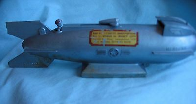 VTG 1950s Duro Mercury Rocket Mechanical Bank Provident Jersey Working Conditio