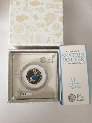 Peter Rabbit Silver Proof 50p Beatrix Potter