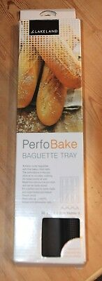 Lakeland Perfobake' Perforated Silicone Baguette Baking Tray (Bakes 3 Baguettes)