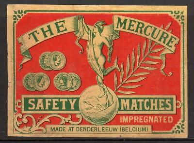 THE MERCURE SAFETY MATCHES: Belgium Matchbox label (M94)