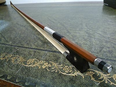 Violin Bow Octagonal - Entry Level Quality Brazilwood Ebony Frog size 3/4