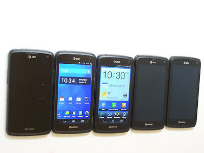 Lot of 5 Pantech Flex P8010 Smartphones All Power On AS-IS GSM