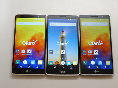 Lot of 3 LG G4 Stylus H635C Claro Smartphones 8GB Good Charger Port AS-IS GSM