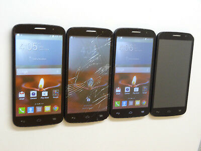 Lot of 4 Alcatel OneTouch Fierce 2 7040T T-Mobile Smartphones Power On AS-IS GSM