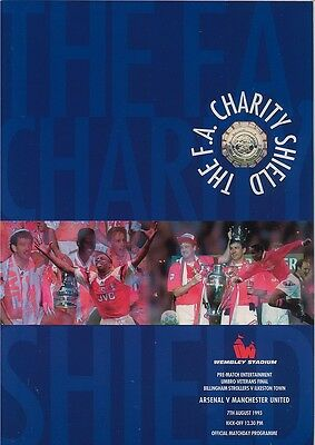 ARSENAL v MANCHESTER UNITED FA CHARITY SHIELD FINAL 1993