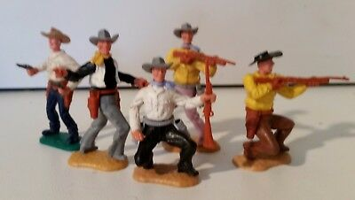 Lot of 5 x 1/32 scale Timpo Swoppett Cowboys, FREE POSTAGE