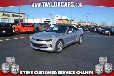 2016 Chevrolet Camaro LT Convertible 2-Door 2016 Convertible Red Leather Rearview Camera LT RS Power Automatic Silver Black