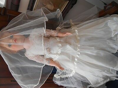 Bridal Walking doll 1955  28 inches tall  display only VGC