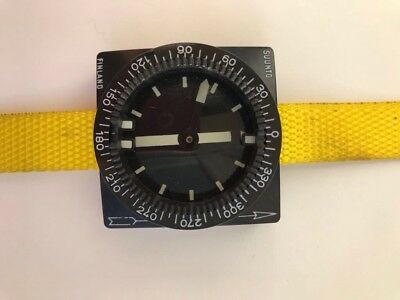 Vintage Suunto SCUBA diving compass With Yellow Strap