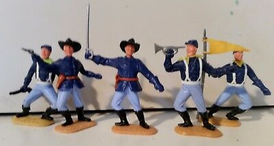 Lot of 5 x 1/32 scale Timpo Swoppett US 7th Cavalry, FREE POSTAGE