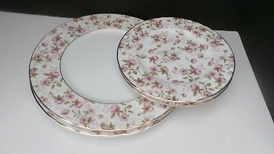 """Gorham """"forever Roses"""" New, Never Used 2 Dinner Plates And 2 Salad Plates."""