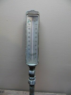 Vintage Moeller Industrial Boiler Thermometer 0-100 Degree Steampunk Brass