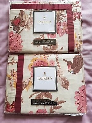 "Dorma pillowcases x 2 "" Tea Rose"""
