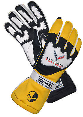 Stand 21 Corvette C7 Racing Gloves OS II (Extra Large XL) Professional Fireproof