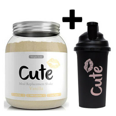 Cute Woman Meal Replacement 500g Diet Protein Slimming Shake + Free Shaker