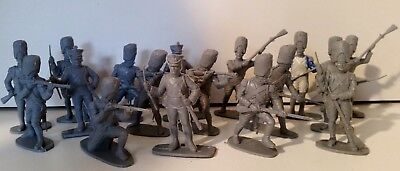 Lot of mixed 1/32 scale Airfix Napoleonic War soldier figures, some painted