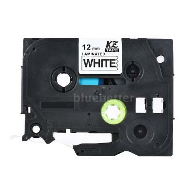 KZe-231 Black on White Laminated Label Tape 12mm 8m Compatible f/Brother PTouch