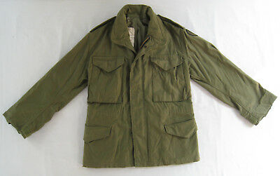 Vtg 1981 US ARMY Coat Cold Weather Field OG-107 TRADOC Patch x-small x-short