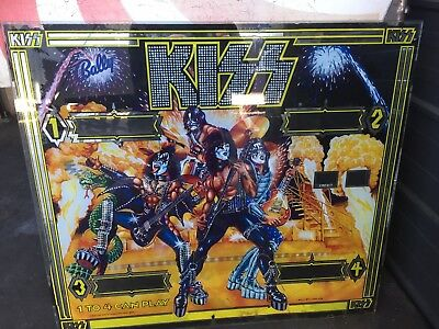 Kiss Pinball Back Glass