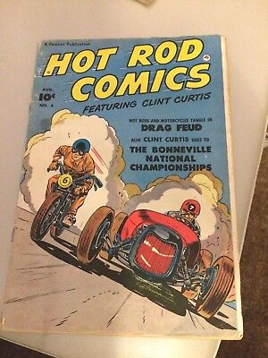 Hot Rod Comics, number 4, approx 1952 featuring Clint Curtis